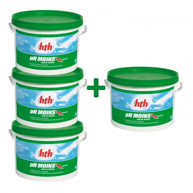 produits mat riels piscines hth ph moins micro billes 5kg lot 4. Black Bedroom Furniture Sets. Home Design Ideas