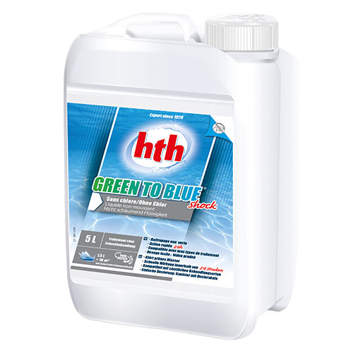 hth green to blue shock 5L