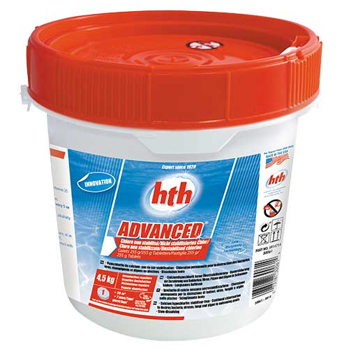 hth advanced galet hypochlorite de calcium en dissolution lente