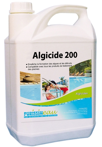 Produits mat riels piscines algicide 200 anti algues for Produit anti algue piscine