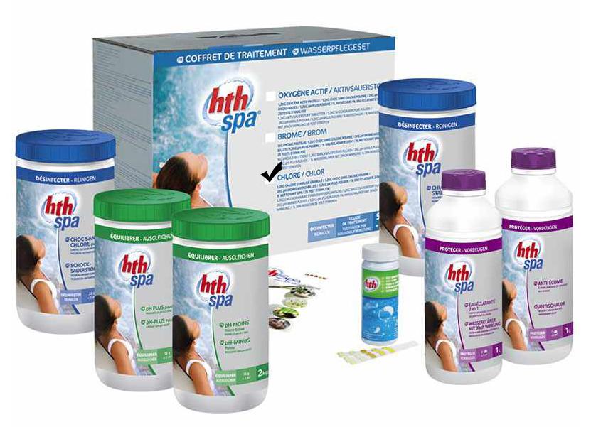 hth spa coffret de traitement au chlore
