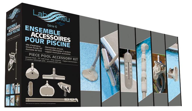 Coffret d'accessoires piscine série 6