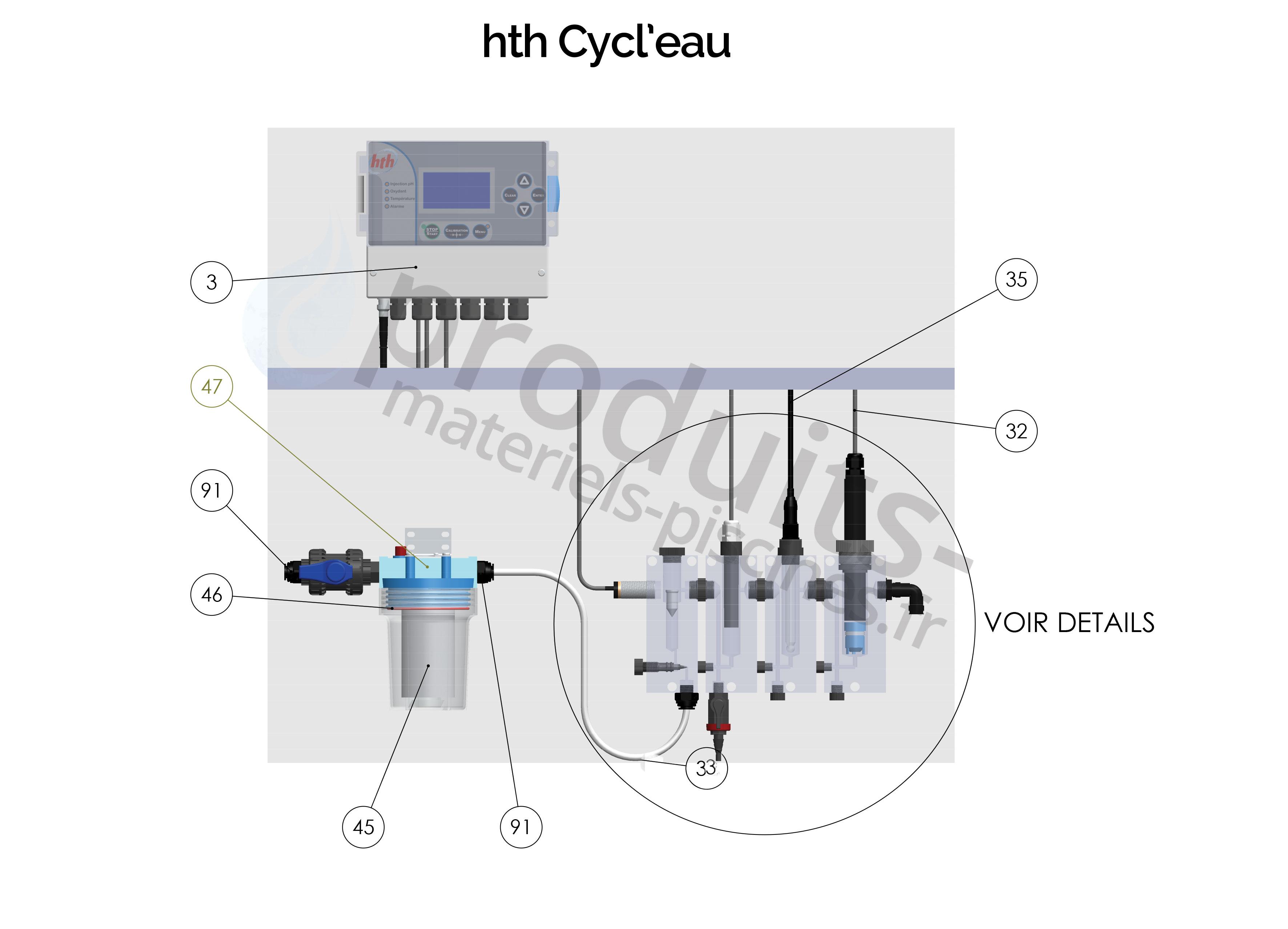 schéma régulation cycl'eau pièces détachées et accessoires
